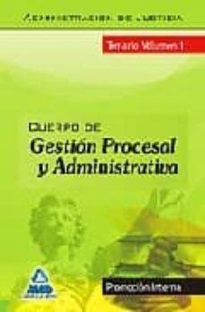 Permacultivo.es Cuerpo De Gestion Procesal Y Administrativa (Promocion Interna). Temario Volumen I Image