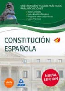 Upgrade6a.es Constitución Española. Cuestionarios Y Casos Prácticos Para Oposiciones Image