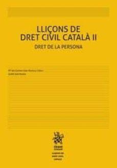 Permacultivo.es Lliçons De Dret Civil Català Ii Dret De La Persona Image