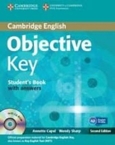 Descargar libros de google books en línea OBJECTIVE KEY (STUDENT S BOOK WITH ANSWERS WITH CD-ROM) 9781107627246 in Spanish de ANNETTE CAPEL, WENDY SHARP CHM