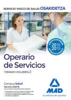 operario/a de servicios de osakidetza-servicio vasco de salud: temario (vol. 2)-9788414215746