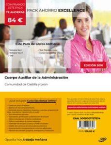 Emprende2020.es Pack Ahorro Excellence Cuerpo Auxiliar De La Administracion De La Comunidad De Castilla Y León. (Incluye Temario Vol I Y Ii,test Y Psicotecnicos + Curso Excellence Online) Image