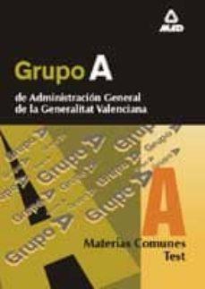 Concursopiedraspreciosas.es Grupo A De Administracion General De La Generalitat Valenciana: T Est, Materias Comunes Image