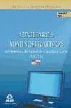 Ojpa.es Auxiliares Administrativos Del Servicio De Salud De Castilla Y Le On (Sacyl). Temario. Volumen I Image