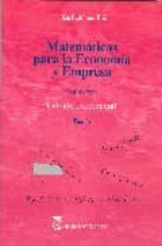 MATEMATICAS PARA ECONOMIA Y EMPRESA (VOL. 2): CALCULO DIFERENCIAL . TEORIA - JULIAN RODRIGUEZ RUIZ | Adahalicante.org
