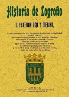 historia de logroño (ed. facsimil)-esteban oca y merino-9788497617246