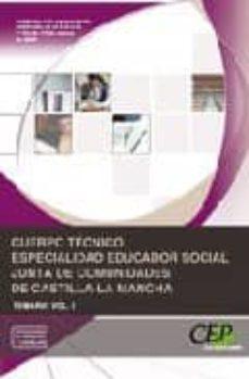 Inmaswan.es Cuerpo Tecnico Especialidad Educador Social. Junta De Comunidades De Castilla-la Mancha. Temario Vol. I Image