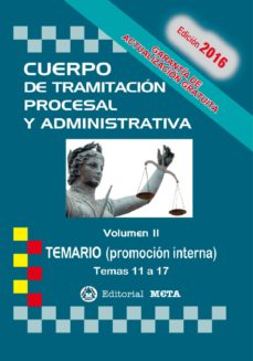 Carreracentenariometro.es Cuerpo De Tramitacion Procesal Y Administrativa Promocion Interna Volumen Ii: Temario Image