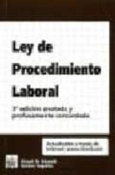 Ojpa.es Ley De Procedimiento Laboral (3ª Edicion Anotada Y Profusamente C Oncordada) Image