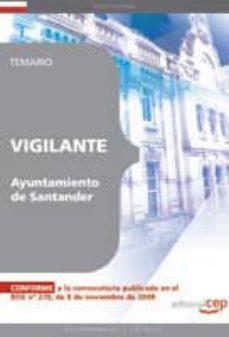 vigilante del ayuntamiento de santander. temario-9788499371856