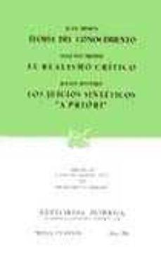 Inmaswan.es Teoria Del Conocimiento; El Realismo Critico; Los Juicios Sinteti Cos A Priori (11ª Ed.) Image