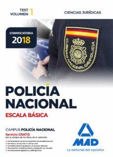 policia nacional escala basica: test (vol. 1): ciencias juridicas-9788414214466