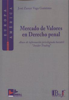 mercado de valores en derecho penal-jose zamyr vega gutierrez-9788415276166
