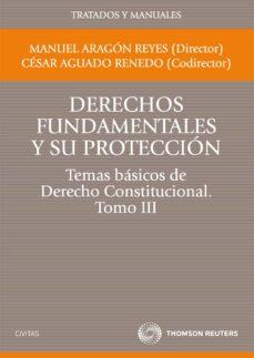 t3 derechos fundamentales y su proteccion:  temas basicos de dere cho constitucional-cesar aguado renedo-manuel aragon reyes-9788447035366