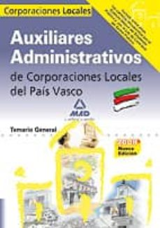 Cdaea.es Auxiliares Administrativos De Corporaciones Locales Del Pais Vasc O. Temario General Image