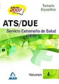 Eldeportedealbacete.es Ats/due Del Servicio Extremeño De Salud (Ses). Temario Especifico (Vol. 4) Image