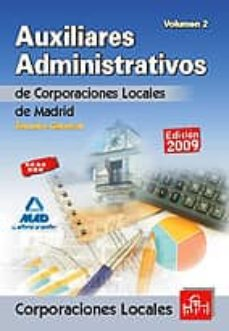 Ojpa.es Auxiliares Administrativos De Corporaciones Locales De La Comunid Ad De Madrid. Temario General. Volumen Ii Image