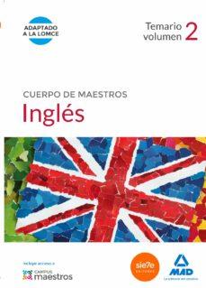 cuerpo de maestros inglés. temario volumen 2-9788490931066