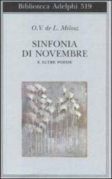 sinfonia di novembre e altre poesie testo francese a fronte-oscar v milosz-9788845922466