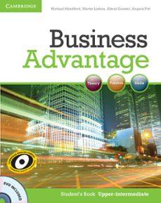 Descargas de libros gratis para tabletas. BUSINESS ADVANTAGE UPPER-INTERMEDIATE STUDENT S BOOK WITH DVD de  9780521132176 (Spanish Edition)