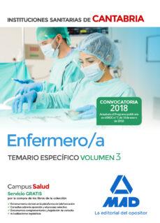 enfermero/a de las instituciones sanitarias de cantabria: temario especifico (vol. 3)-9788414214176