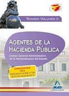 Titantitan.mx Agentes De La Hacienda Pública. Cuerpo General Administrativo De La Administracion Del Estado. Temario Volumen Ii Image