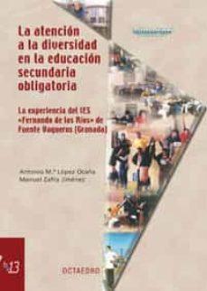 Descargar LA ATENCION A LA DIVERSIDAD EN LA EDUCACION SECUNDARIA OBLIGATORI A. LA EXPERIENCIA DEL IES FERNANDO DE LOS RIOS DE FUENTEVAQUEROS GRANADA gratis pdf - leer online