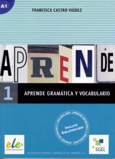 Libros gratis en línea sin descargas APRENDE GRAMATICA Y VOCABULARIO 1 (Literatura española) de FRANCISCA CASTRO VIUDEZ 9788497781176