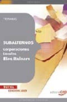 Vinisenzatrucco.it Subalternos Corporaciones Locales De Illes Balears. Temario Image