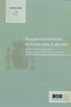 Encuentroelemadrid.es Presupuestos Generales Del Estado Para El Año 2005: Ley 2-2004, D E 27 De Diciembre Real Decreto-ley 11-2004, De 23 De Diciembre Image