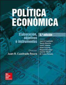 politica economica (5ª ed.)-juan r. cuadrado roura-9788448607586