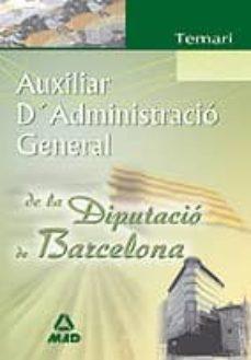 Cdaea.es Auxiliar Administracio General Diputacio Barcelona: Temari Image