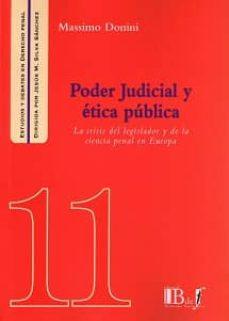 PODER JUDICIAL Y ÉTICA PÚBLICA - MASSIMO DONINI |