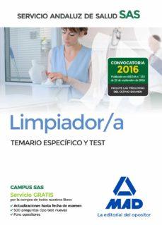 limpiador/a del servicio andaluz de salud. temario especifico y test-9788414200896