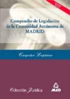 Costosdelaimpunidad.mx Compendio De Legislacion De La Comunidad Autonoma De Madrid Image