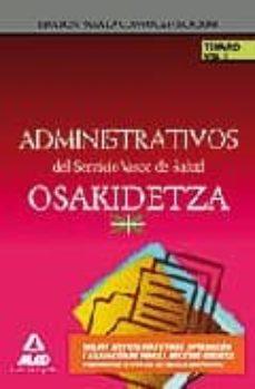Trailab.it Administrativos Del Servicio Vasco De Salud/osakidetza. Temario. Volumen I. Image