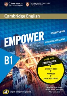 Libros de audio gratis en línea descargar ipod CAMBRIDGE ENGLISH EMPOWER FOR SPANISH SPEAKERS B1 STUDENT S BOOK WITH ONLINE ASSESSMENT AND PRACTICE AND WORKBOOK in Spanish MOBI PDF RTF 9788490368596