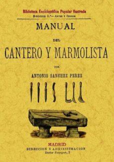 manual del cantero y marmolista (ed. facsimil)-antonio perez-sanchez-9788497613996