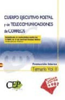 Trailab.it Cuerpo Ejecutivo Postal Y De Telecomunicaciones De Correos. Promo Cion Interna. Temario (Vol. Ii) Image