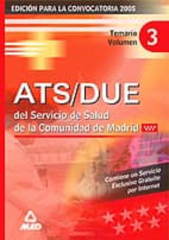 ATS DEL SERVICIO MADRILEÑO DE SALUD: TEMARIO (VOL. III)