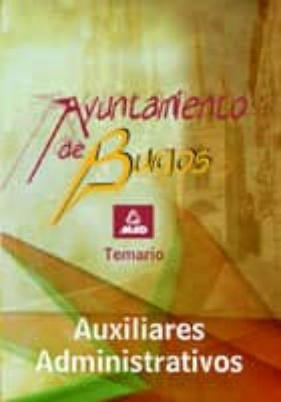 AUXILIAR ADMINISTRATIVO DEL AYUNTAMIENTO DE BURGOS. TEMARIO