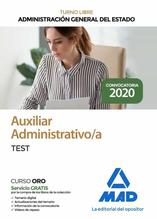 AUXILIAR ADMINISTRATIVO DE LA ADMINISTRACION GENERAL DEL ESTADO. TEST