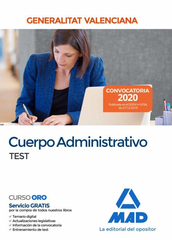 CUERPO ADMINISTRATIVO DE LA GENERALITAT VALENCIANA. TEST