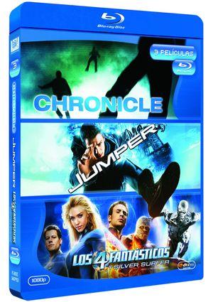 chronicle + jumper + los 4 fantasticos y silver surfer (blu-ray)-8420266963918