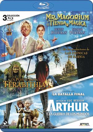 mr. magorium tienda magica+puente terabithia+arthur (blu-ray)-8435153735165