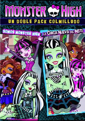 monster high: la chica nueva del insti + somos monster high (dvd)-8414906818539