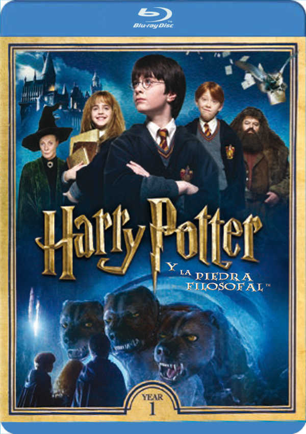 harry potter y la piedra filosofal - blu ray --8420266007094