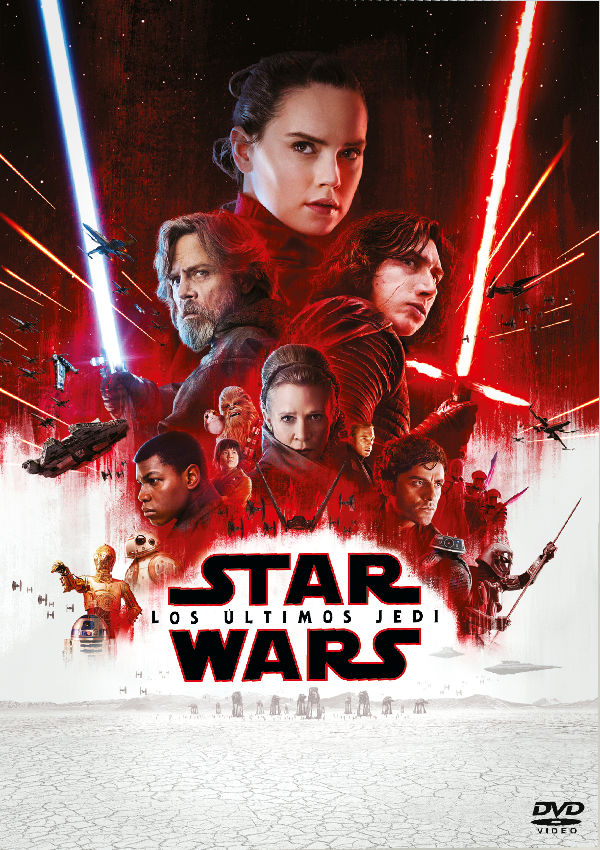 star wars los ultimos jedi - dvd --8717418522230