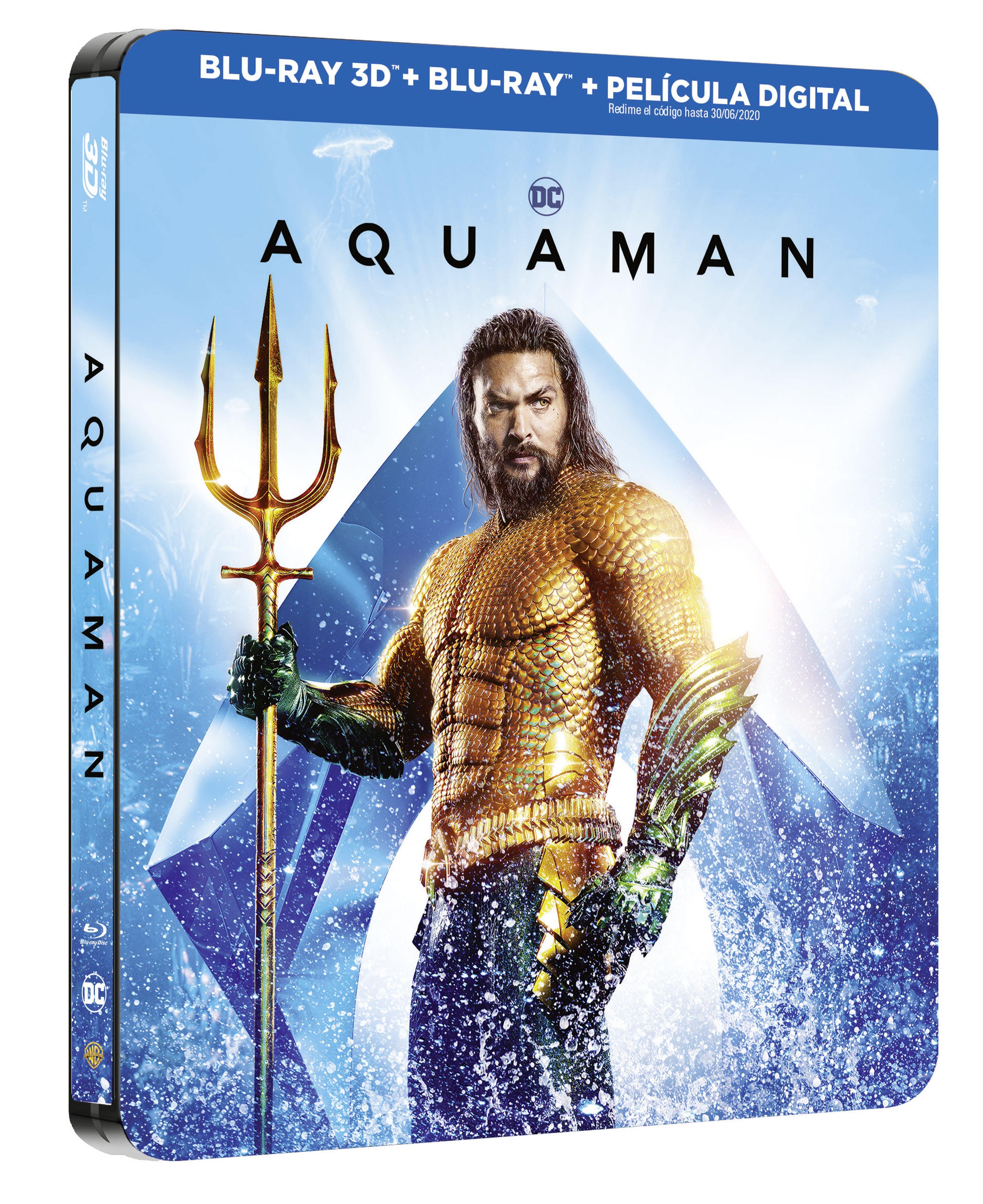 aquaman - blu ray 3d + 2d - ed.steelbook-8420266022769