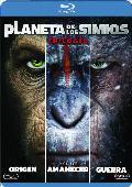 trilogía planeta de los simios - dvd --8420266010704